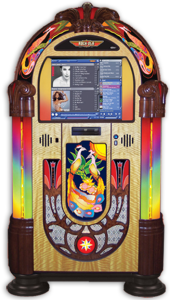 Rock-Ola Jukebox PEACOCK Music Center Jukebox Touchscreen
